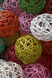 Wicker balls Stock Image
