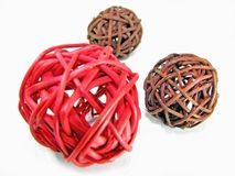 Wicker balls Stock Photos