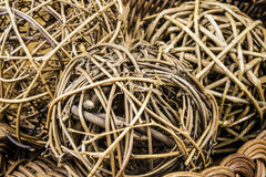 Wicker Balls Royalty Free Stock Images