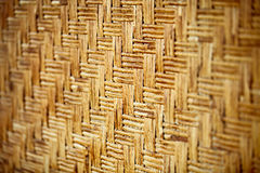 Wicker bamboo wall Stock Photography