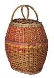 Wicker basket. On white  background Royalty Free Stock Photo