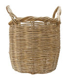 Wicker Basket. Isolated on White Background, Thai handmade Royalty Free Stock Photography