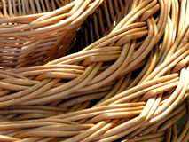 Wicker basket. Details Royalty Free Stock Images