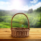 Wicker basket Royalty Free Stock Image