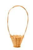 Wicker basket. On a white background Stock Photos