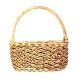 Wicker basket. Handmade wicker basket isolated on white background Stock Photo