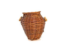 Wicker basket. On a white background Royalty Free Stock Image