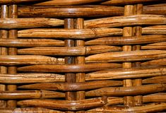Wicker basket. Texture showing old wicker basket Stock Photos