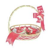 Wicker basket. Stock Images