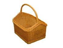 Wicker Basket. Isolated on white background Stock Photo
