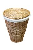 Wicker Basket. Isolated on a white background Stock Image