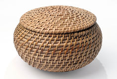 Wicker basket Stock Images