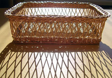 Wicker basket. Royalty Free Stock Image