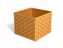 A wicker basket Royalty Free Stock Image