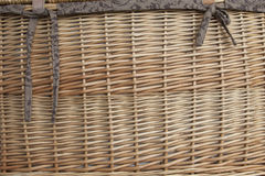 Wicker Basket Background Texture. Wicker Basket as a Weave Background Texture with brown material ties royalty free stock images