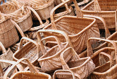 Wicker Basket Background Stock Photos