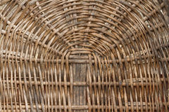 Wicker basket background Stock Photo