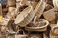 wicker basket Stock Photography