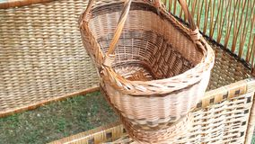 Wicker basket braided Royalty Free Stock Photography