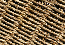 Wicker basket braided texture. Royalty Free Stock Photography