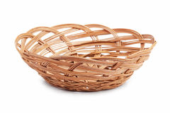 Wicker basket of bread or fruit Royalty Free Stock Image