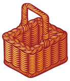 Wicker basket Royalty Free Stock Images