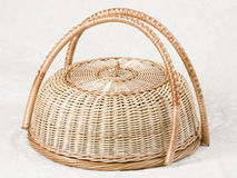 Wicker basket for cakes Stock Images
