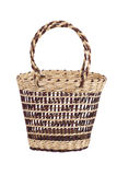 Wicker basket for carrying food Stock Photo