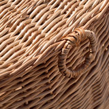 Wicker basket close-up fragment Royalty Free Stock Photos