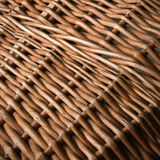 Wicker basket close-up photo texture Stock Photo