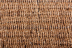 Wicker basket contruction parallel texture. Wicker basket on with metal wire construction - parallel texture background Royalty Free Stock Photography
