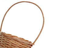 Wicker basket from corner Stock Image