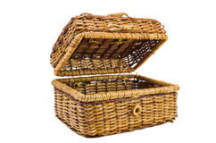 Wicker  basket with a cover Stock Photography