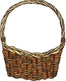 Wicker Basket Empty Stock Photos