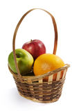 Wicker basket with fruit. Stock Photography