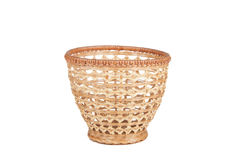 Wicker basket for fruits isolated on white background Stock Image