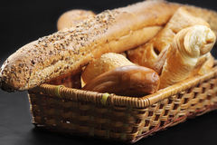 Wicker basket full of pastry Stock Photography