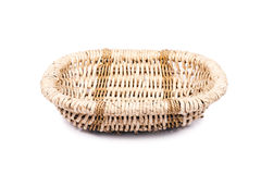 Wicker basket is hand-prepared. Stock Photos