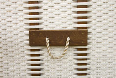 Wicker basket handle Stock Photos