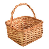 A wicker basket with handle. Stock Photography