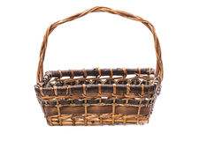 Wicker basket with handle Royalty Free Stock Photo