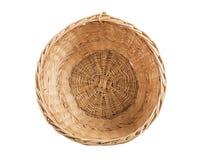 Wicker basket inside. Stock Photo