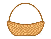 Wicker basket. Isolate on white background Stock Photography