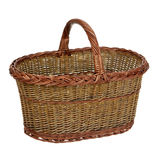 Wicker basket isolated Stock Images