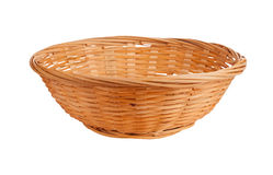 Wicker basket isolated Royalty Free Stock Photos