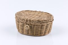 Wicker basket isolated Royalty Free Stock Images
