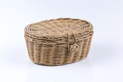 Wicker basket isolated Royalty Free Stock Image