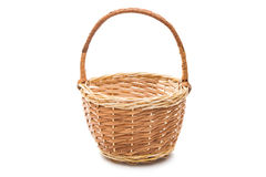 wicker basket isolated stock photos