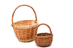 wicker basket isolated royalty free stock photography