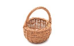 wicker basket isolated stock image